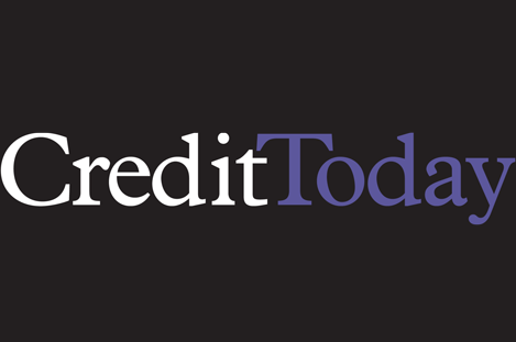 Credit Today logo, White and Purple text on black background